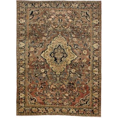 Vintage Persian Mahal Rug with Warm Colors and Victorian Style