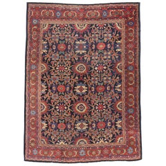 Vintage Persian Mahal Rug with Traditional Style, Persian Area Rug