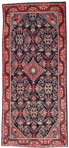 Vintage Persian Mahal Runner with Traditional Style, Wide Hallway Runner