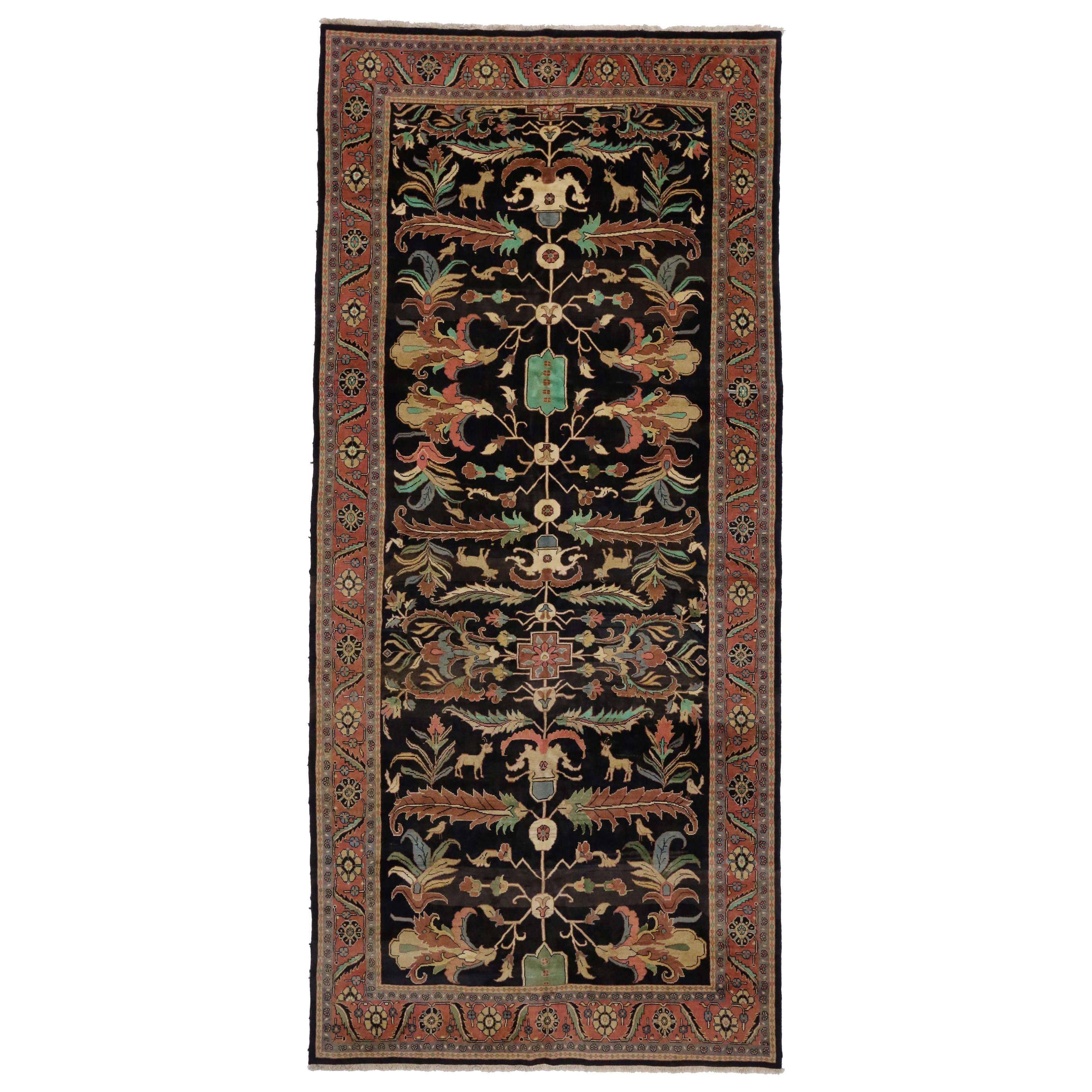 Vintage Persian Mahal William Morris Inspired Rug with Arts & Crafts Style