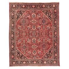 Vintage Persian Mahal Wool Rug