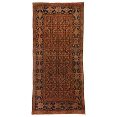 Vintage Persian Malayer Gallery Rug, Wide Hallway Runner
