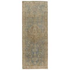 Vintage Persian Malayer Rug, circa 1940  3'10 x 8'10