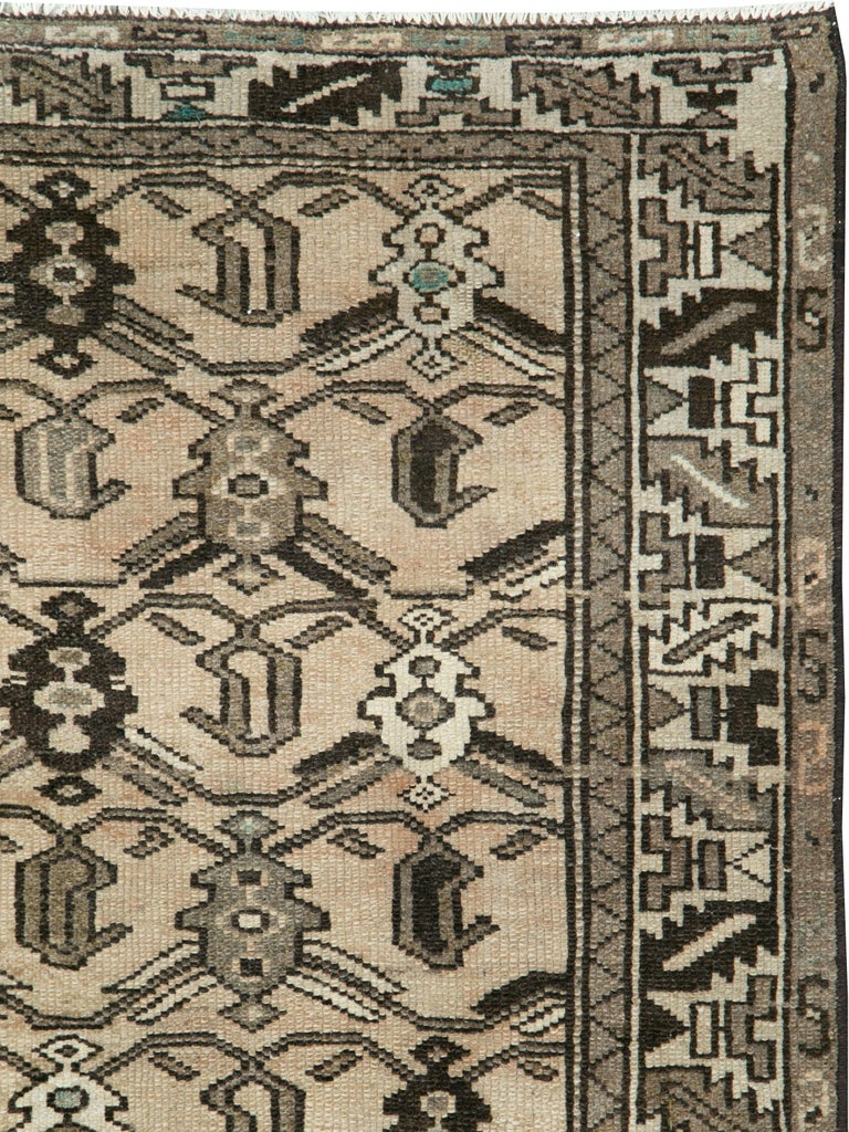 Hand-Knotted Vintage Persian Malayer Rug For Sale