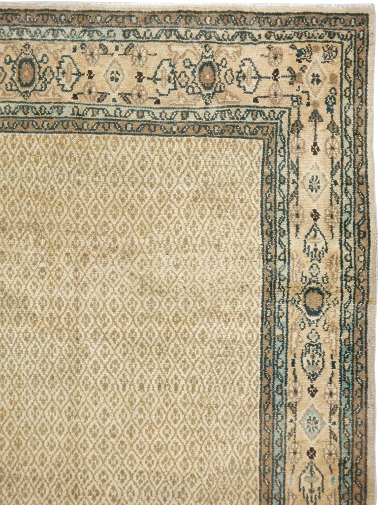 Mid-Century Modern Vintage Persian Malayer Rug For Sale