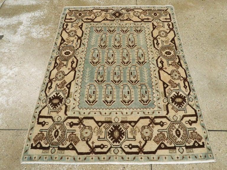 Folk Art Vintage Persian Malayer Rug For Sale