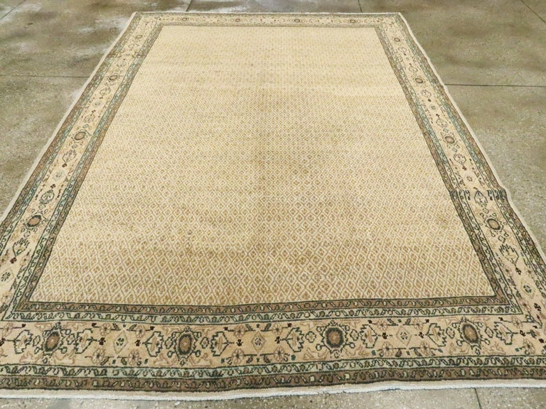 Vintage Persian Malayer Rug In Good Condition For Sale In New York, NY