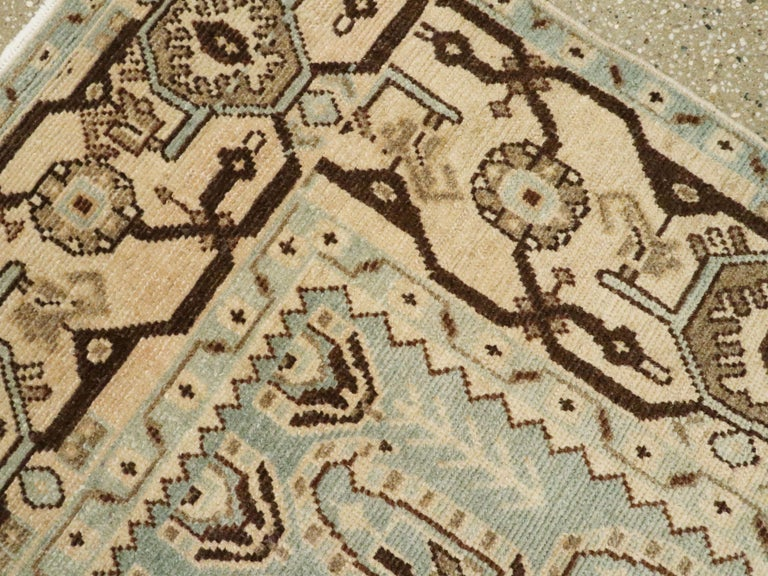 20th Century Vintage Persian Malayer Rug For Sale