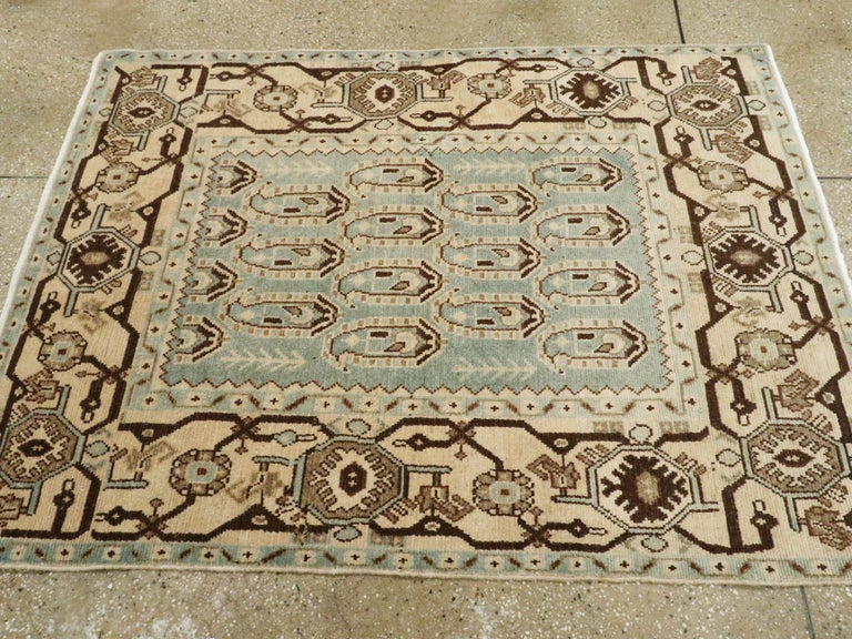 Wool Vintage Persian Malayer Rug For Sale