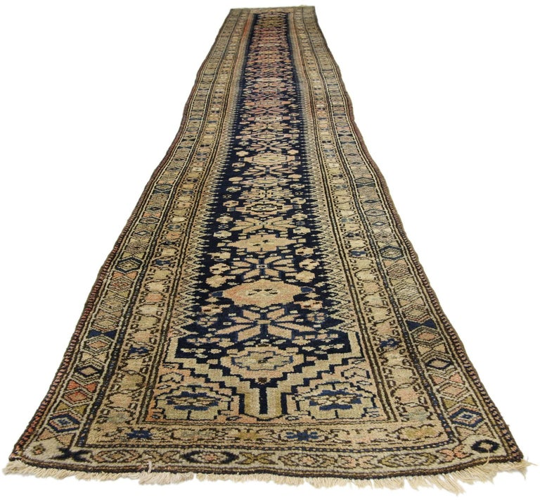 Antique Persian Malayer Rug Runner Extra Long Hallway Runner