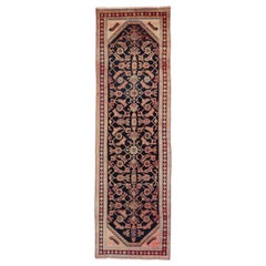 Vintage Persian Malayer Runner, Geometric Print Hallway Runner