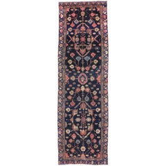 Vintage Persian Malayer Runner, Hallway Runner