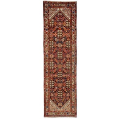 Vintage Persian Malayer Runner with Herati Design and Modern Style
