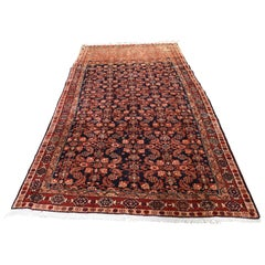 Vintage Persian Malayer with Abrush Wide Runner Hand Knotted Oriental Rug