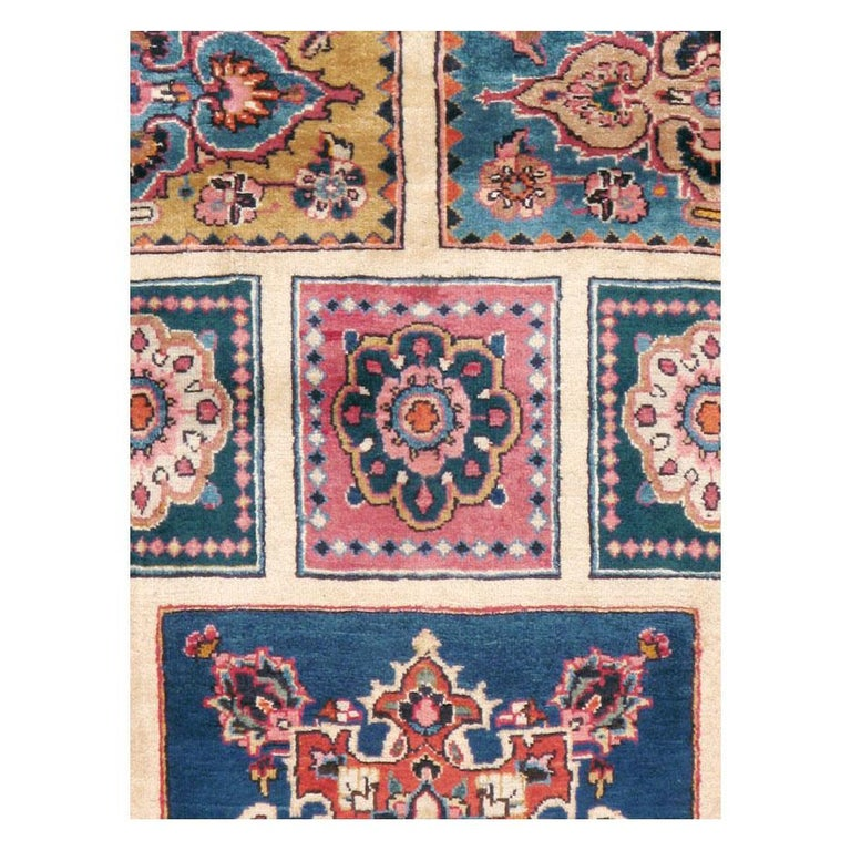 A vintage Persian Mashad accent rug handmade during the mid-20th century.  Measures: 6' 4