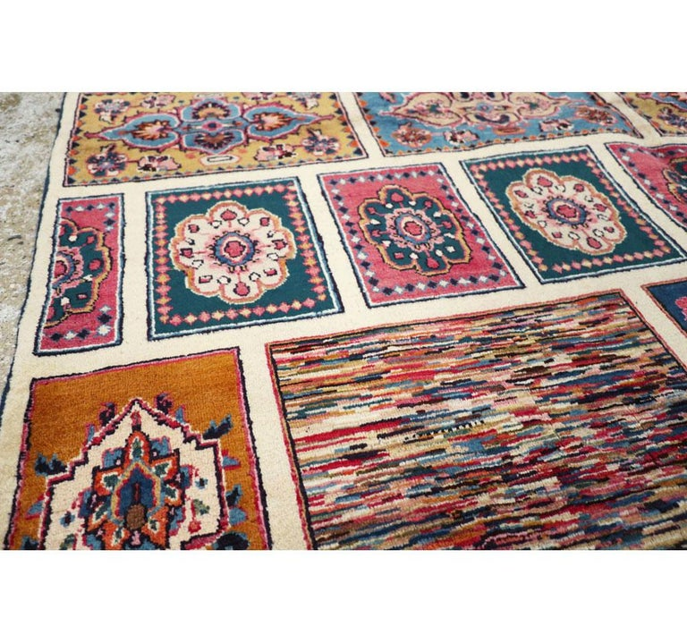 20th Century Vintage Persian Mashad Accent Rug For Sale