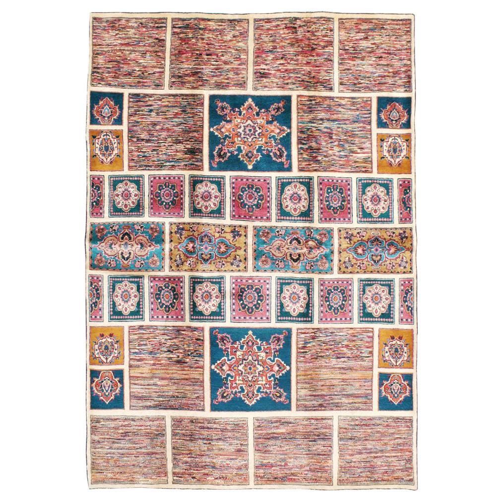 Vintage Persian Mashad Accent Rug