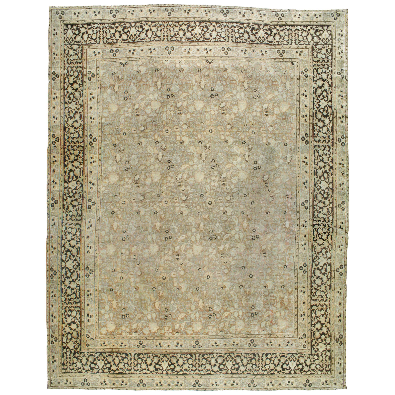 Vintage Persian Mashad Carpet