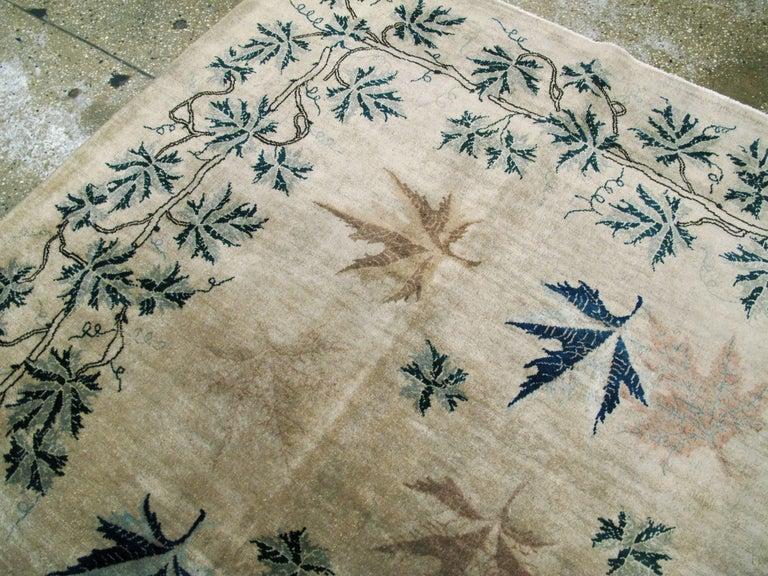 Vintage Persian Mashad Rug For Sale 1