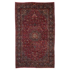 Vintage Persian Mashhad Palace Rug with Victorian Style