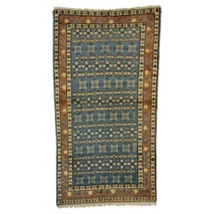 Vintage Persian Mashhad Rug Accent Rug with Renaissance Jacobean Style
