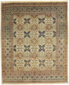 Vintage Persian Mashhad Rug with Islamic Quatrefoil Tile Geometric Pattern