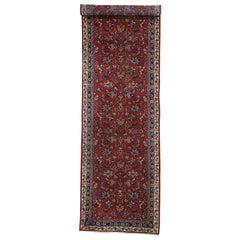 Vintage Persian Mashhad Runner with Old World Parisian Style