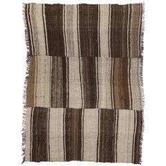 Vintage Persian Mazandaran Kilim Rug with Modern Style