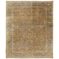 Vintage Persian Meshad Rug Carpet, circa 1920 8'7 x 10'3