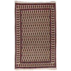 Vintage Persian Mood Rug with All-Over Boteh Pattern