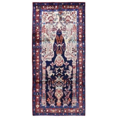 Vintage Persian Nahavand Vase Design Full Pile Clean Pure Wool Hand Knotted Rug