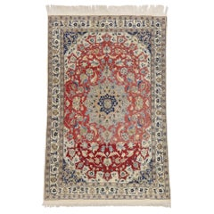 Vintage Persian Nain Rug with New England Cape Cod Federal Style