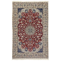 Vintage Persian Nain Rug with Federal Colonial Style