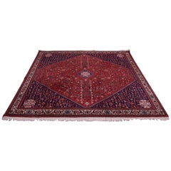 Vintage Persian Navy and Red Shiraz Tapestry / Rug