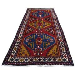 Vintage Persian Northeast Pure Wool Wide Runner Oriental Rug