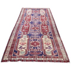 Vintage Persian Northeast Pure Wool Wide Runner Oriental Rug