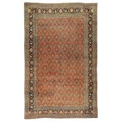Vintage Persian Oversize Tabriz Rug Carpet