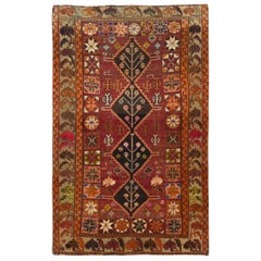 Vintage Persian Qashqai Excellent Condition Wool Hand Knotted Rug