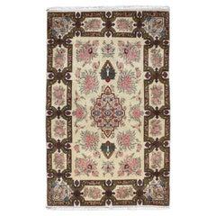Vintage Persian Qum Rug