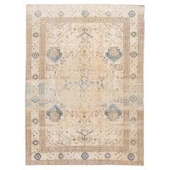 "Vintage Persian Room Size Tabriz Rug. 8'10""x12'1"""