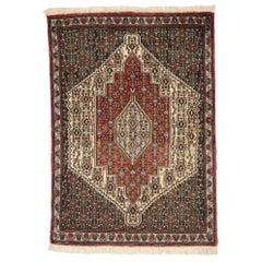 Vintage Persian Sanadaj Accent Rug, Kitchen, Foyer or Entry Rug