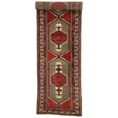 Vintage Persian Sarab Runner with Mid-Century Modern and Art Deco Style