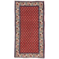 Vintage Persian Saraband Hamadan Rug with Mir Boteh, Kitchen, Foyer, or Entry
