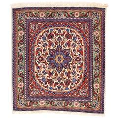 Vintage Persian Sarouk Accent Rug