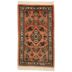 Vintage Persian Sarouk Rug with French Baroque Style