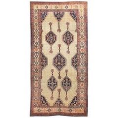 Vintage Persian Serab Camel Hair Rug
