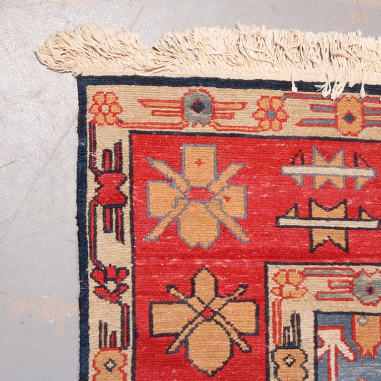 Vintage Persian Serapi Tribal Wool Carpet, 20th Century In Good Condition For Sale In Big Flats, NY