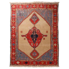 Vintage Persian Serapi Tribal Wool Carpet, 20th Century