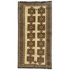 Vintage Persian Shiraz Accent Rug, Tribal Hallway Runner