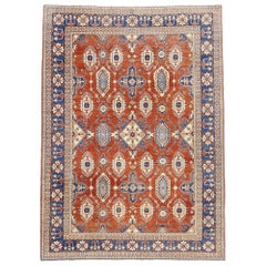 Vintage Persian Shiraz Afghani Rug with Modern Colonial and Federal Style